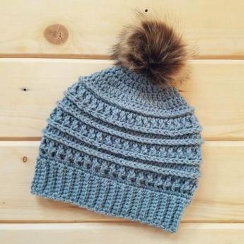 Crochet Katniss Messy Bun Hat cf066c1d4f7