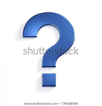 Question Mark in Blue Color Symbol in Style. 3D Rendering Illustration  #3d #question #ask #idea #icon #symbol