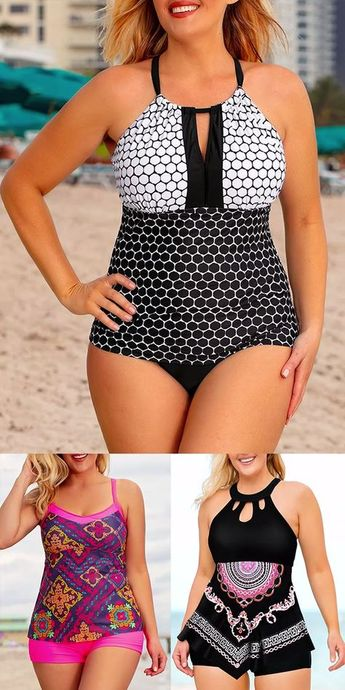 Whether you want to add some oomph or celebrate your natural shape!Plus size swimwear for your choice.Look hotter this summer in this on trend swimwear.