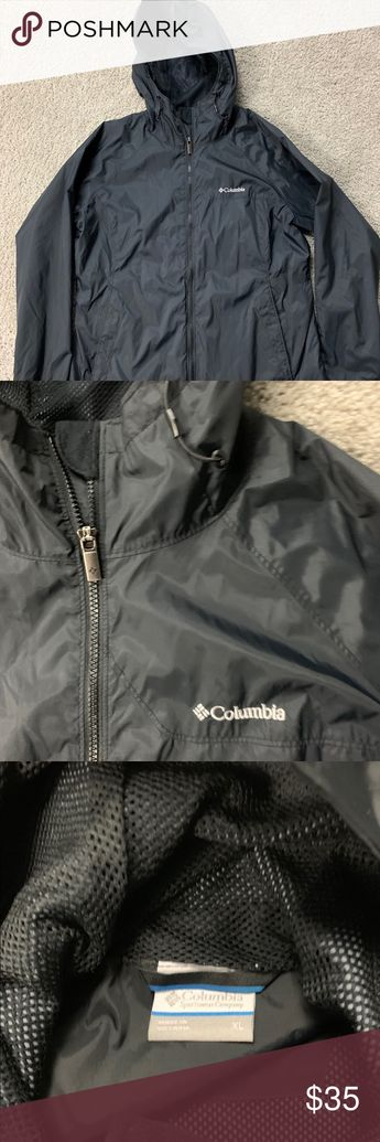 8dc5ff585904c Columbia Womens Rain Jacket XL Black Hooded Columbia Womens Rain Jacket XL  Black Hooded I Brand
