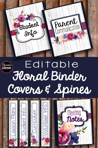 editable binder covers bright