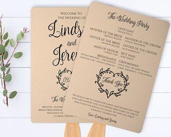 Vintage Heart Printable Wedding Program Template