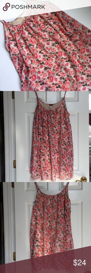 5775497cc4a Love Ari Chiffon Dress w Lining Size L Love Ari floral dress with  adjustable spaghetti straps