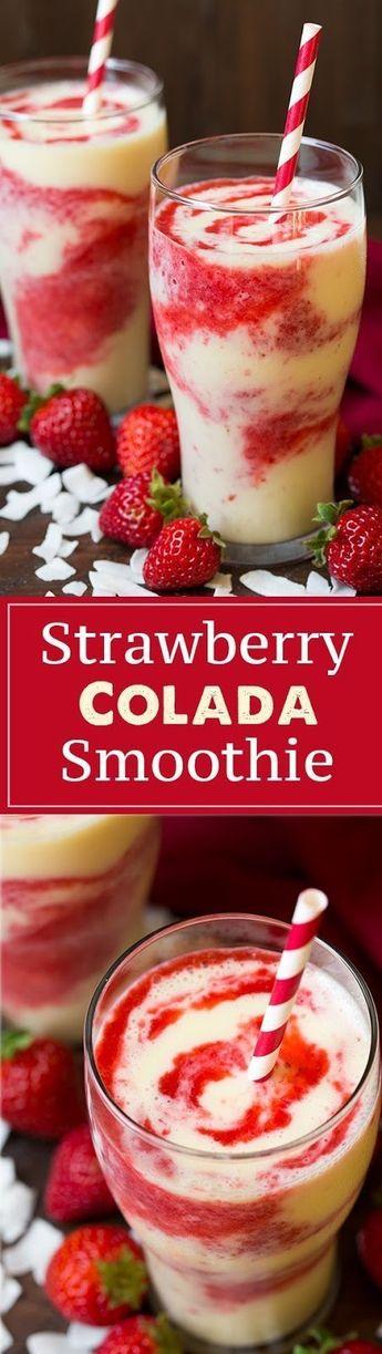 Strawberry Colada Smoothie - food good recipes