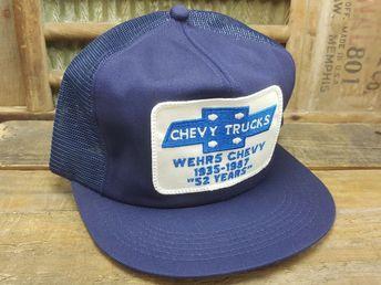 f1fe7b83 Vintage CHEVY TRUCKS Mesh Snapback Trucker Hat Cap Patch K BRAND Made In  USA #fashion