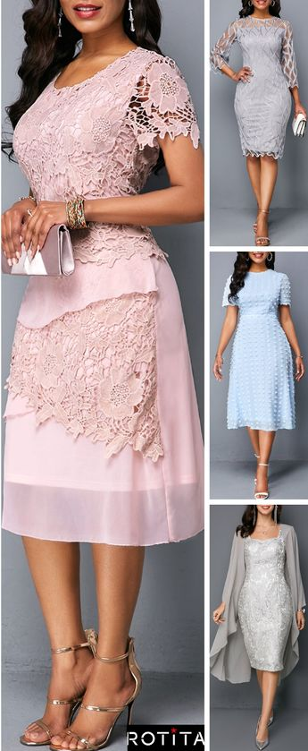 Featured with pure color will show these dress are casual and popular, lace chiffon design make it unique with others. Short length will let your leg looks longer and make you slimmer.