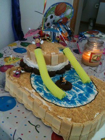 Waterslide birthday cake