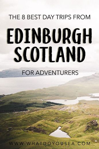If you've spent some times roaming Edinburgh's cobblestone streets, chances are you are ready to venture out into the Scottish Highlands, Stirling Castle, Harry Potter Train, Ben Nevis, and many other iconic day trips from Edinburgh. These are the 8 best day trips you can take from Edinburgh, Scotland. #edinburgh #edinburghdaytrips