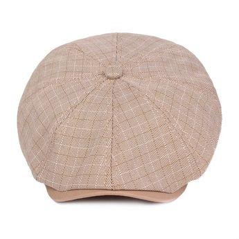 6631e218 Men Vogue Cotton Linen Beret Cap Casual Outdoors Adjustable Literary Painter  Hat
