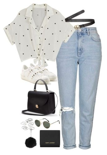 Sem título Sem título by fashionnfacts on Polyvore featuring Topshop, Yves Saint Laurent, Candie's, Gucci, H&M and Valentino