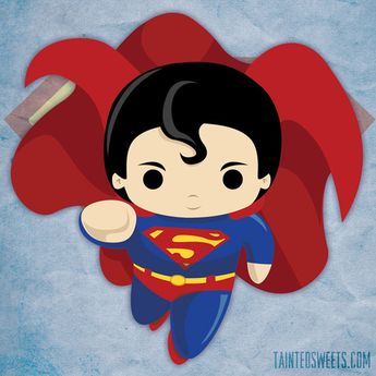 chibi superman flying by Tainted Sweets