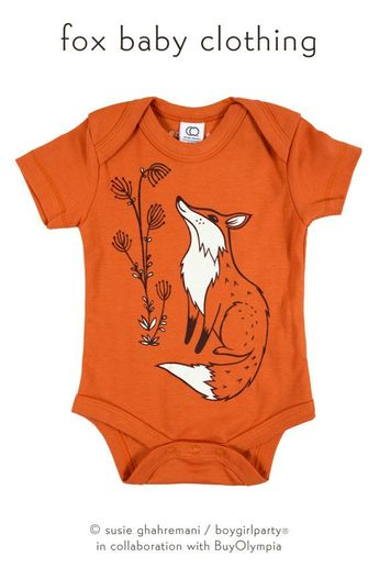 1a2a2cd72 Fox Onesie®, Boho Baby Clothes, Baby Shower Gift, Baby Boy