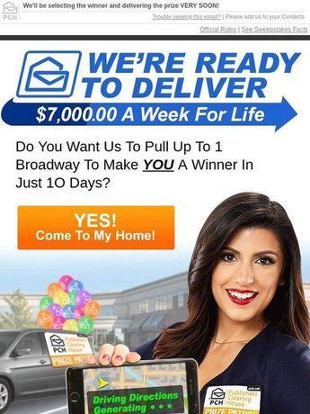 Publishers clearing house i jcg claim vip exclusive $1,000,
