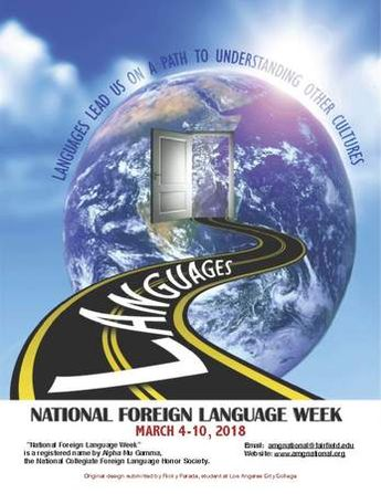 ABOUT National Foreign Language Week was inaugurated in the Spring of 1957 by Alpha Mu Gamma. Sister Eloise Therese, the National President of Alpha Mu Gamma from 1956 to 1960, discovered that such a...