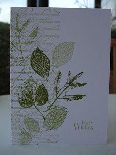 Pretty leaf print card