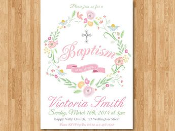 baptism invitation girl baptism invitation printable bap