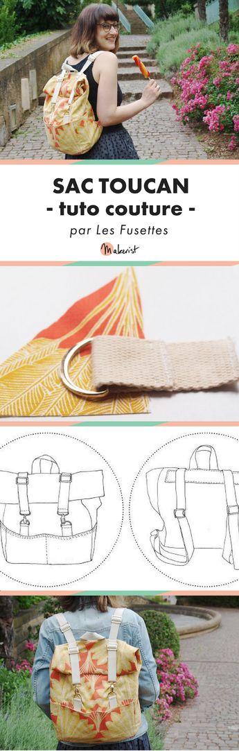 Patron gratuit du sac à dos Toucan - couture