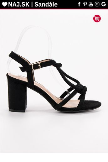 8573f653d3 Strieborné sandále na podpätku MCKEYLOR