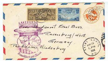 BELEG BRIEF MIF AUF GANZSACHE USA ERSTFLUG LAKE HURST HINDENBURG  Anbieter Gut Bernstorf  Online Auktion 0 Gebot(e)  Ausruf: 100.00 EUR Die Auktion endet am 07.04.2013!