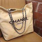 Logo Canvas W Gold Metal Chain Shopping Bag / Shoulder Bag / Tote Bag Vip Gift