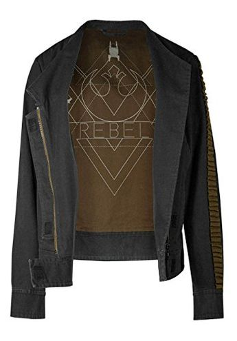 Musterbrand Star Wars Women Jacket Jyn Grey L >>> More info could be found at the image url. (This is an affiliate link)