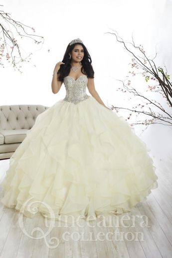 5a798526424 Quinceanera by House of Wu 26870 Ruffled Gown