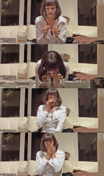 """""""I have to go powder my nose."""" Pulp Fiction"""