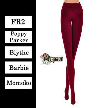 fe705f9a8f ELENPRIV maroon jersey tights with lycra {Choose size} Fashion royalty FR2  Poppy Parker Blythe