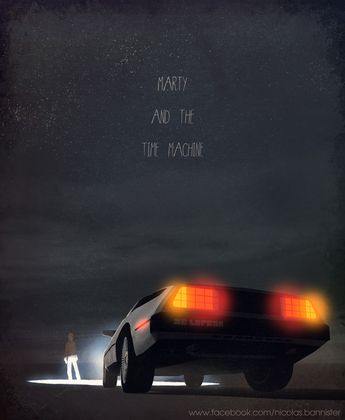 Iconic film and tv vehicule art by Nicolas Bannister : Retour vers le futur www.facebook.com/banncars