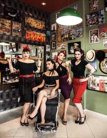 Pin-Ups modernas, girl gang do Universo Retrô (Foto: Pablo Zanella / Sailor Jack)