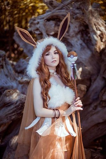 Eevee is listed (or ranked) 2 on the list 22 Awesome Ladies Who Perfectly Embody Their Pokemon Cosplays