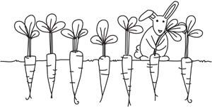 Bunnys Harvest design (UTH4998) from UrbanThreads.com hand stitch design