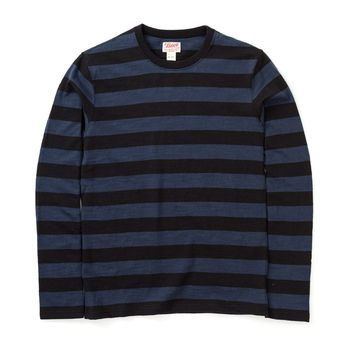 20da4235bbb  p 1950s inspired long sleeve striped t-shirt made popular by motorcyclists  in