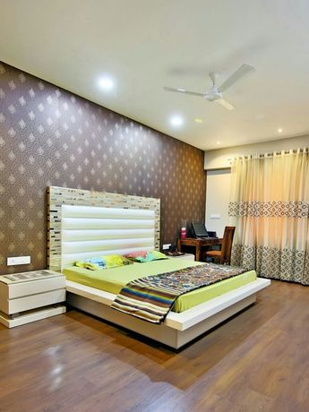 Modern Contemporary Interior Design by Darak Deepak #UrbanClapHomes #UrbanClapBedrooms #luxuryliving #lighting #interior #modern