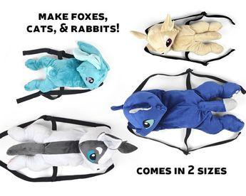 e0fa968956e3d Plush Backpack Sewing Pattern .pdf Tutorial Stuffed Animal