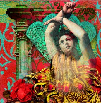 Digital Collage with images from Itkupilli and Tumble Fish Studio