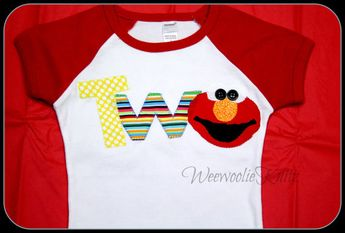 Elmo Inspired 2nd Birthday Shirt 1st Sesame Street