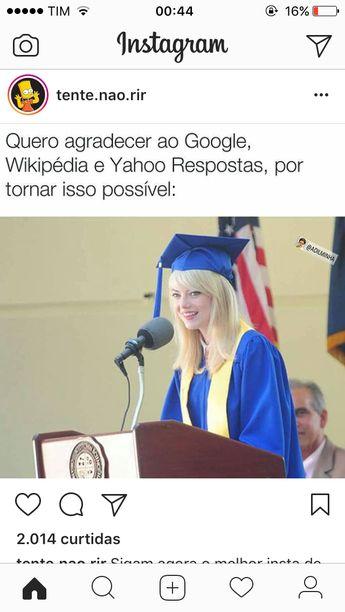 Exatamente!nunca vi ninguém com tanta coragem de agradecer na frente dos professores além dela e depois de mim.kkkk