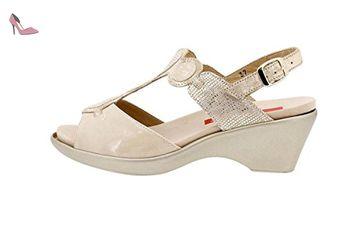 Chaussure femme confort en cuir Piesanto 1857 sandales à semelle amovible  confortables amples - Chaussures piesanto 418176de71cd