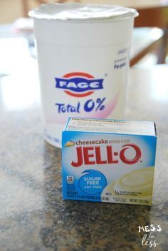 jello pudding cheesecake mix and Fage total 0% yogurt