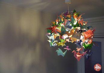 DIY: mon nouveau lustre tout en origamis - Poc a poc, créations textiles