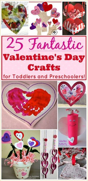 Valentine Crafts for Preschoolers and Toddlers: Over 25 Easy Crafts!