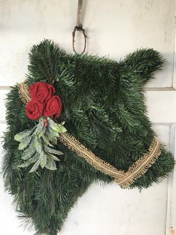 Christmas Cow Wreath
