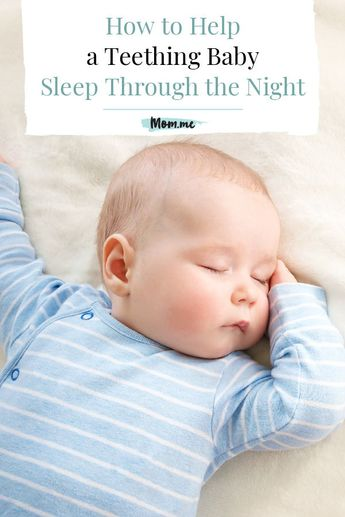 How to Help a Teething Baby Sleep Through the Night: There are some doctor-approved methods you can try to reduce baby's pain and help you both get the sleep you need. See what other moms do, too.