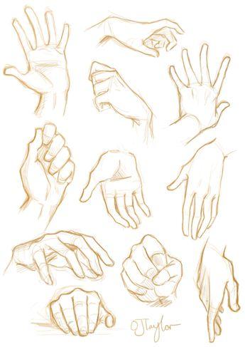 mãos esboço |  Tumblr