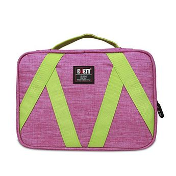 7d2c4a5e865 BUBM Hanging Toiletry Bag Travel Kit Organizer for Women Makeup Men  Grooming Bag Rose Red and