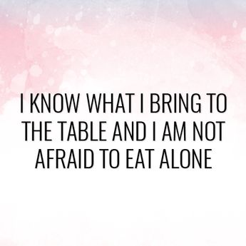 This is such a powerful statement. Do you know what you bring to the table?  #MotivationalQuote #WomenSupportingWomen #BeIconic