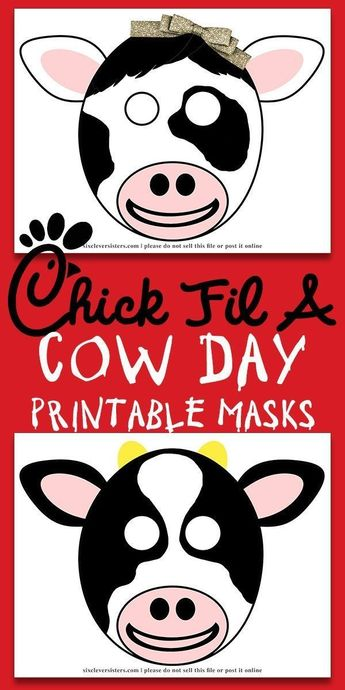 photograph about Chick Fil a Printable Cow Costume named Chick-fil-A Cow Working day Paper Plate Cow Masks With No cost Print