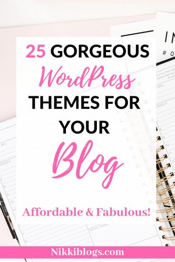 Find the perfect theme for your blog or business right here! Totally affordable, totally fabulous! These top 25 themes cover everyone from photography, lifestyle, mom, beauty, fashion, and even food bloggers. There are options for everyone! Showcase your design skills or portfolio using a professional and premium theme to make you stand out from the rest. An excellent first step for new bloggers breaking into the blogging world! Get creative and explore this amazing array of templates.