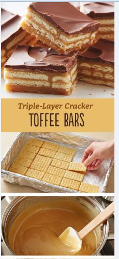 Triple-Layer Cracker Toffee Bars - Recipes Instant